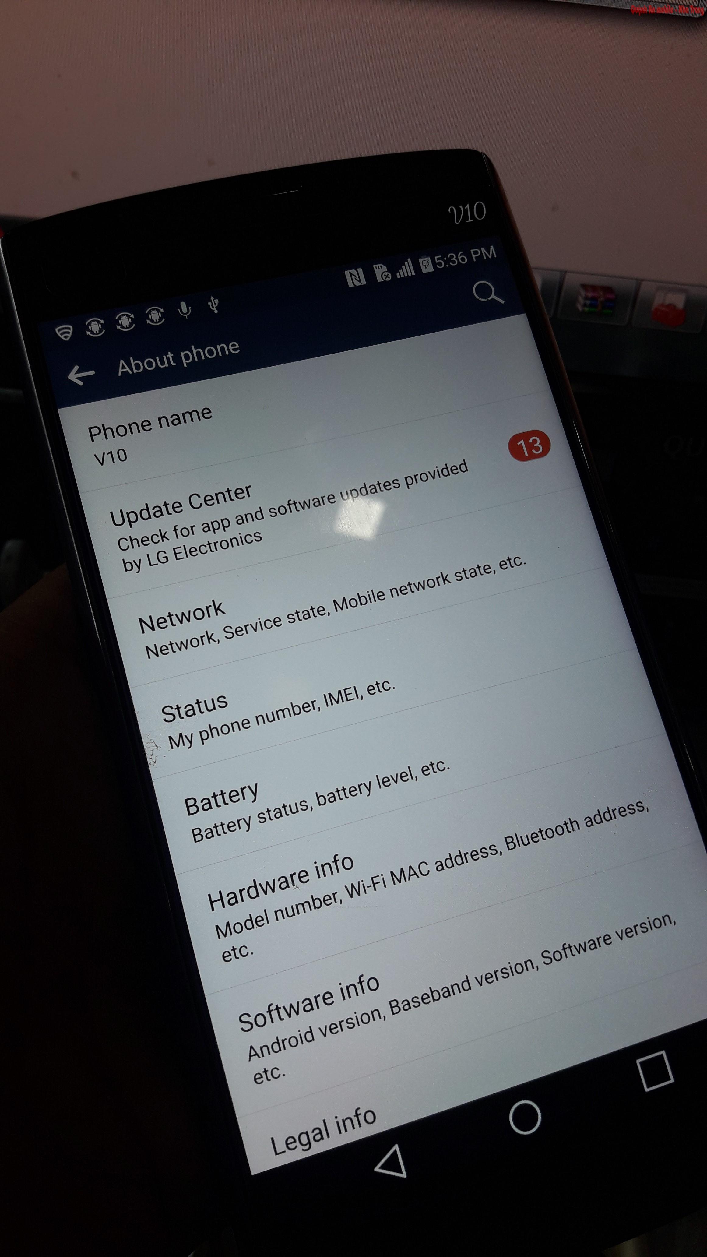 Sau khi xóa tài khoản google cho LG V10 thì mọi chức năng hoạt động bình thường, không bị khóa lại