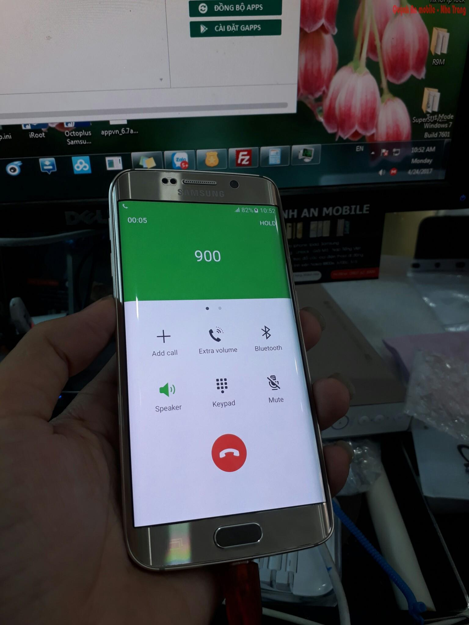 Unlock và nạp tiếng Việt cho Samsung galaxy S6 edge tại Nha Trang mã máy SM-G925F
