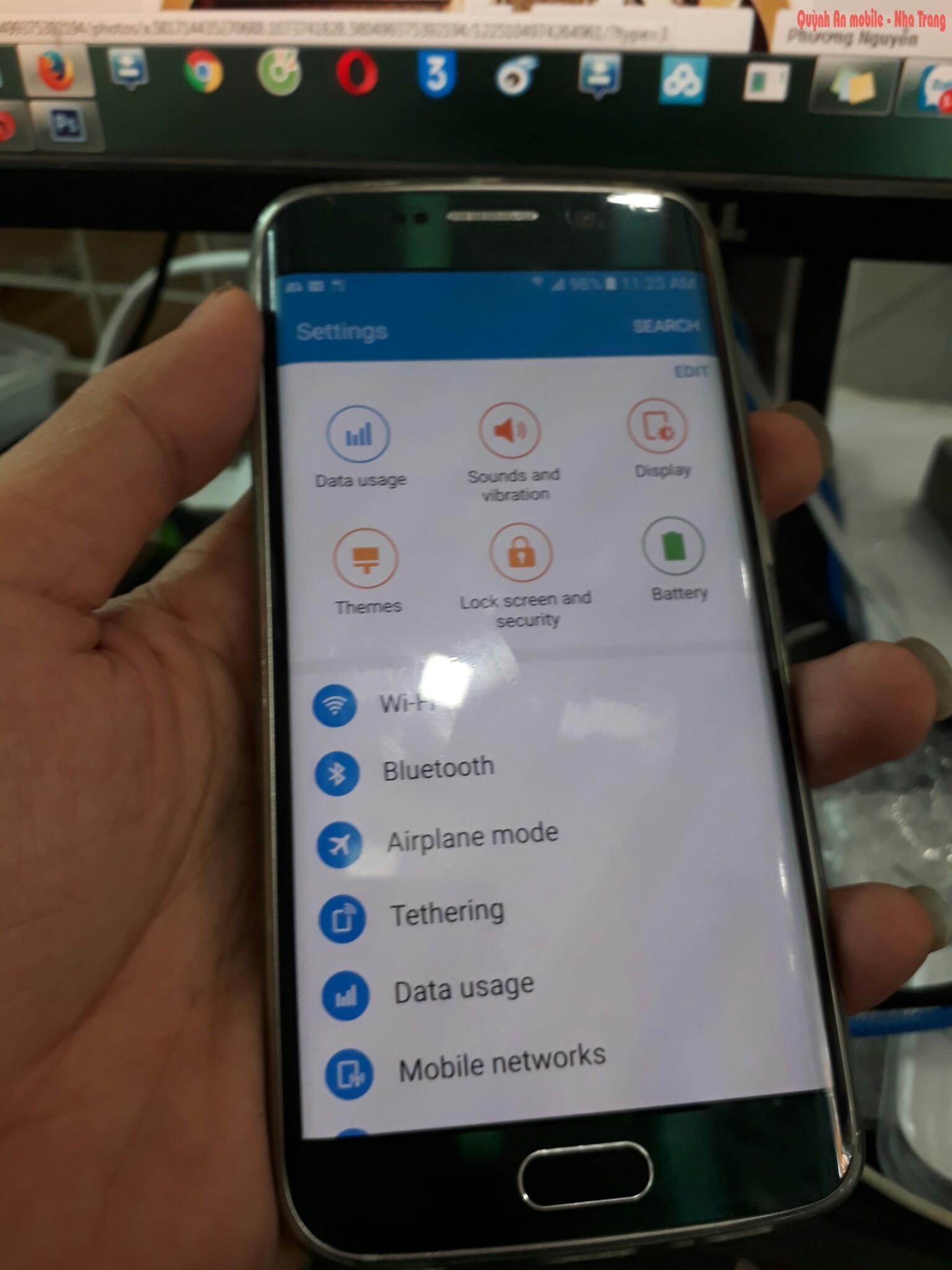 Máy Samsung galaxy S6 edge SC-04G xách tay về không cớ tiếng Việt