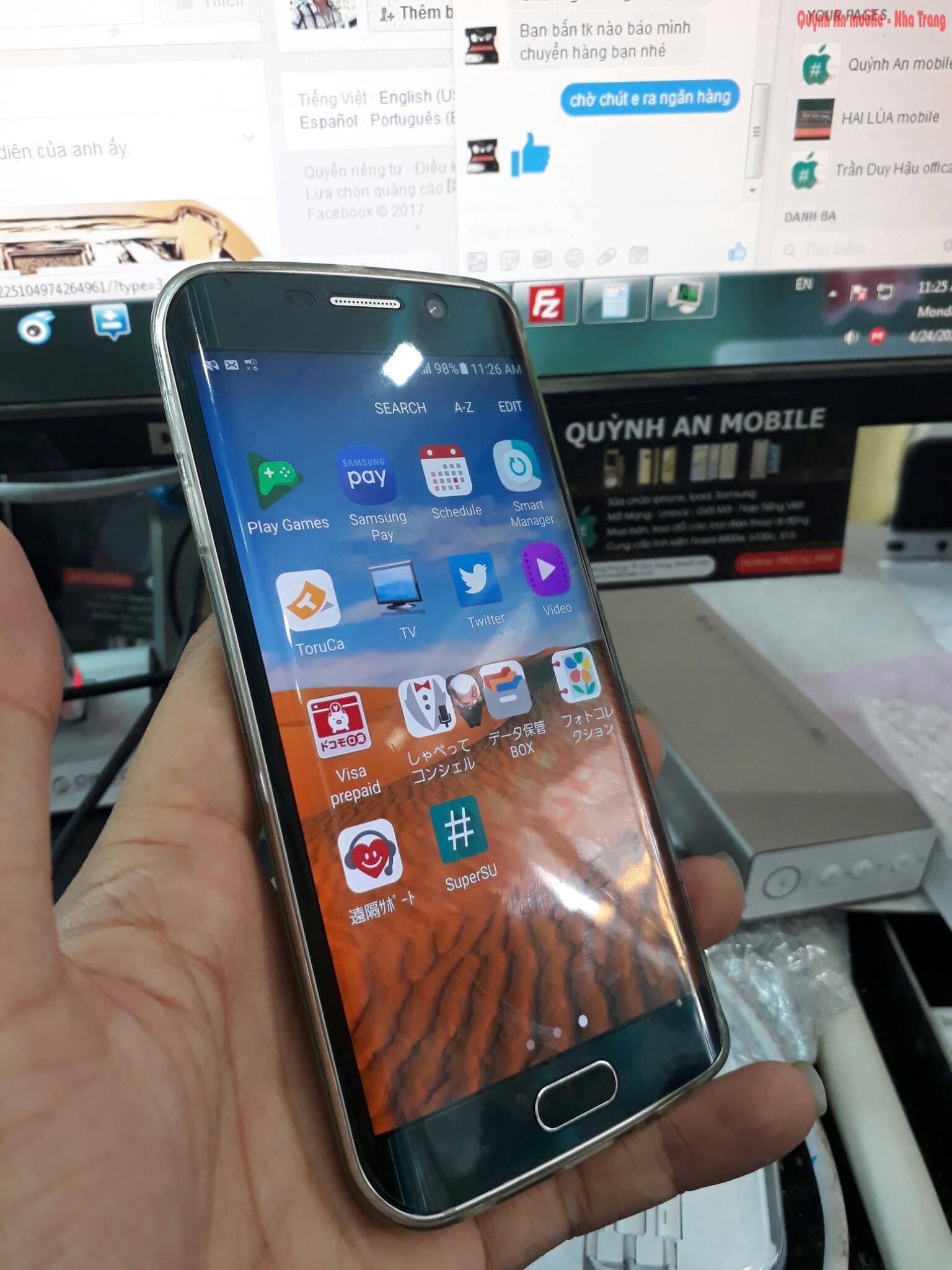 Máy Samsung galaxy S6 edge SC-04G xách tay về không cớ tiếng Việt và rất nhiều ứng dụng rác từ nhà mạng