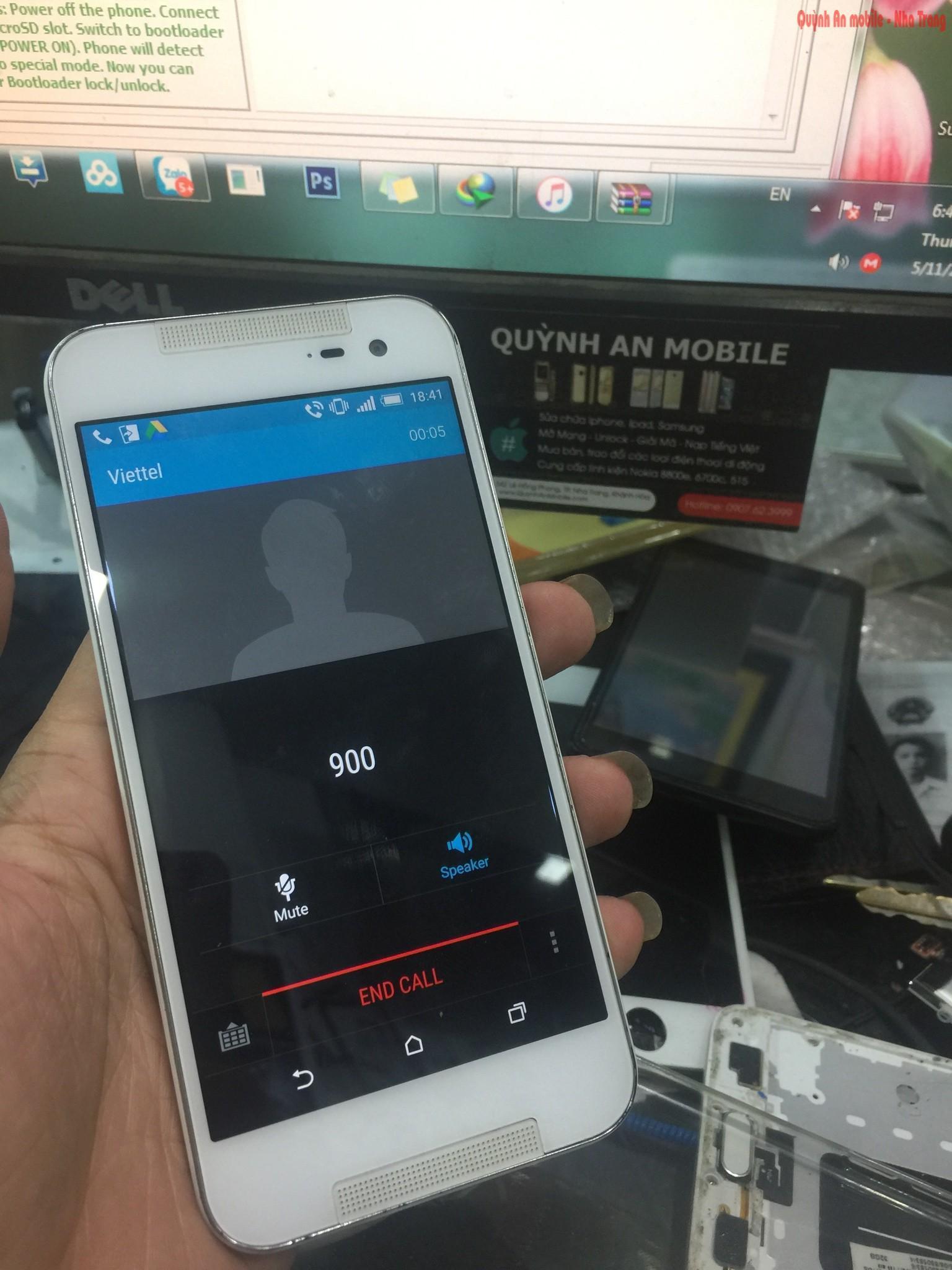 Mở mạng nạp tiếng việt HTC Butterfly 2 HTL23 tại Nha Trang bằng thiết bị chuyên dụng