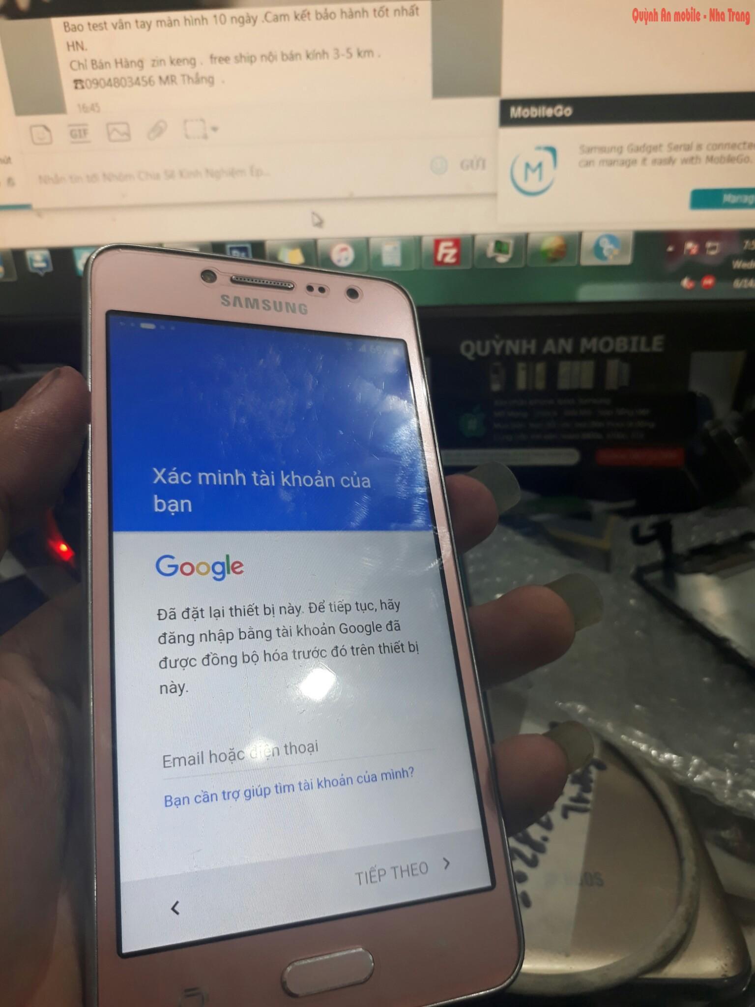 Xóa xác minh tài khỏa google, unlock, mở mạng, nạp tiếng Việt J2 Prime tại Nha Trang lấy ngay