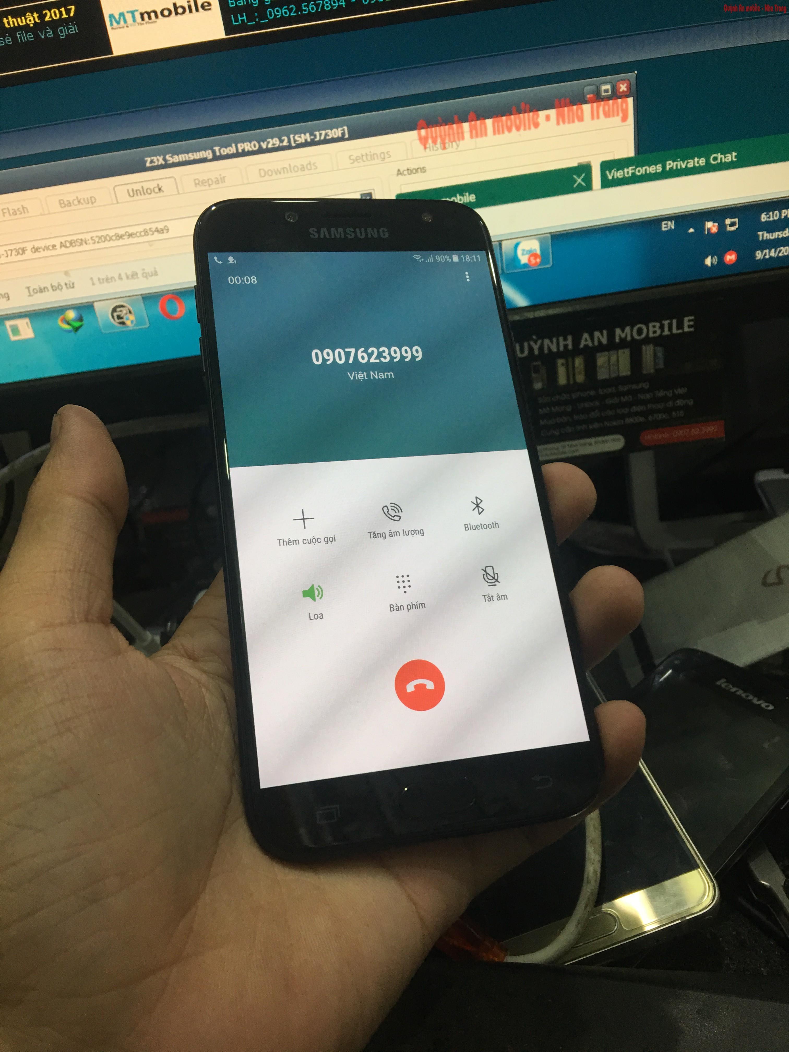 Unlock Samsung galaxy j7 pro SM-J730F tại Nha Trang lấy ngay