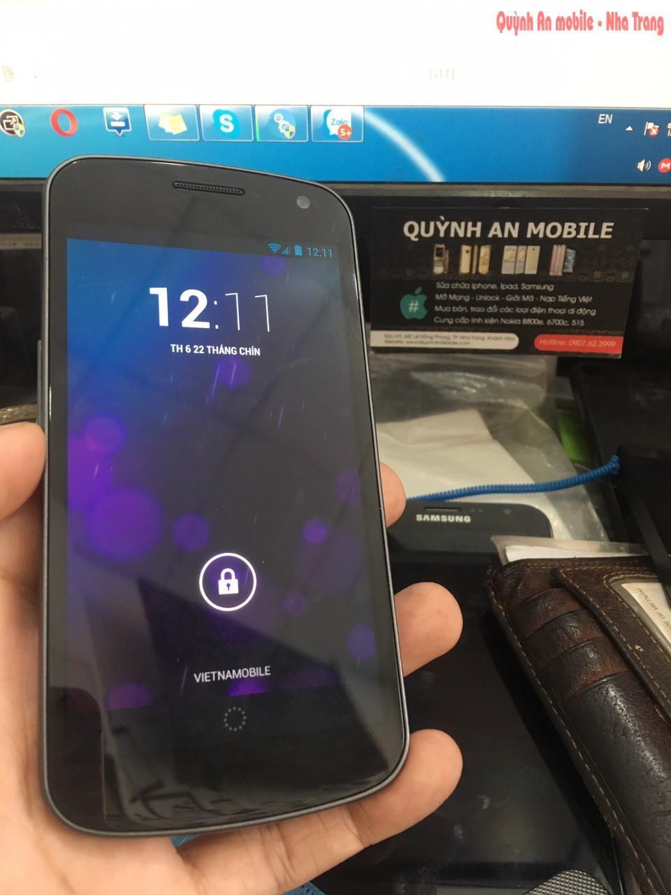 Unlock Samsung Galaxy nexus SC-04D tại Nha Trang