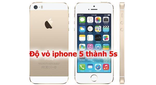 Thay vỏ iphone 5 thành 5s tại Nha Trang