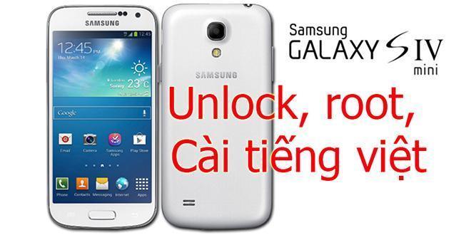 Unlock samsung galaxy S4 mini tại Nha Trang