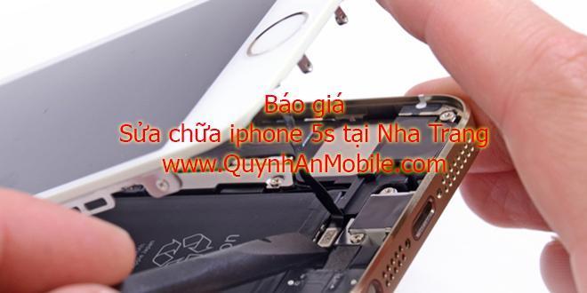 Báo giá sửa chữa iphone 5S tại Quỳnh An Mobile 2