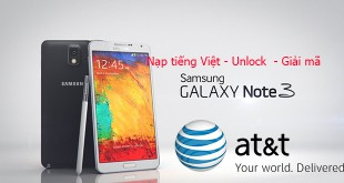 Unlock +Nạp tiếng việt note 3 xách tay tại Nha Trang.