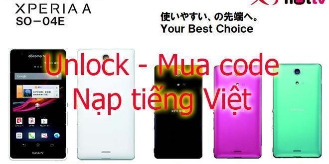 unlock so04e tại Nha Trang