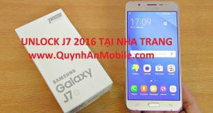 Unlock J7 2016 SM J710F tại Nha Trang