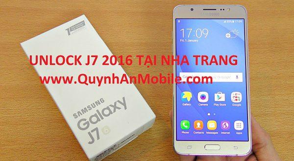 Unlock Samsung J7 2016 SM J710F tại nha Trang
