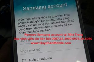 Samsung account remove