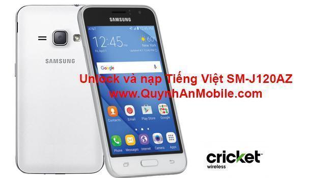 Unlock và nạp Tiếng Việt SM-J120AZ www.QuynhAnMobile.com