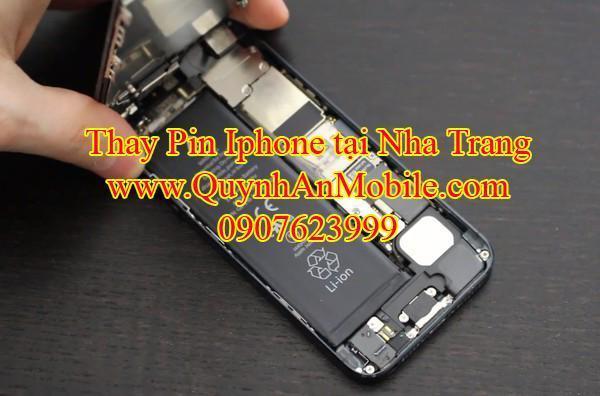 Thay pin iphone tại Nha Trang bảo hành 2 tháng, thay chờ lấy ngay