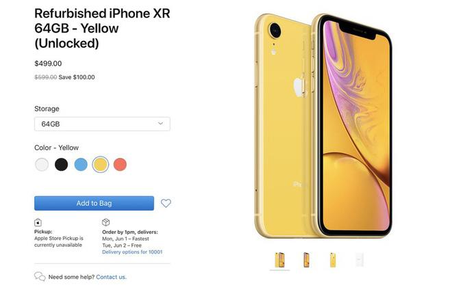 Apple bắt đầu mở bán iPhone XR tân trang, đã rẻ nay còn rẻ hơn - Ảnh 1.