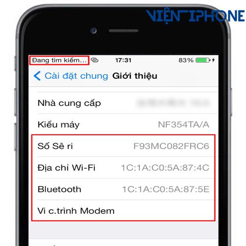 Sửa iPhone 6s, 6S Plus mất imei tại Nha Trang 1