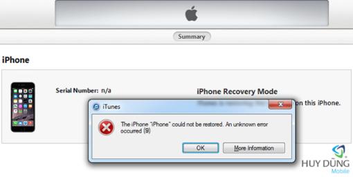 Sửa chữa iPad 4 restore lỗi 9/28/40/4013 giá tốt tại Nha Trang 1